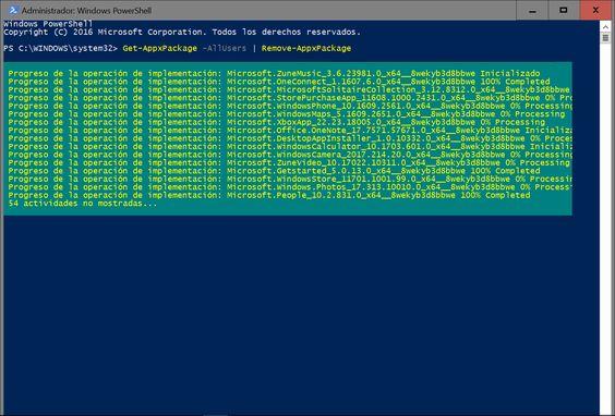 Agregar y quitar programas en Windows 10