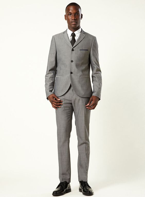$250 | Grey Gatsby Two-Piece Skinny Suit | Topman | eye invented