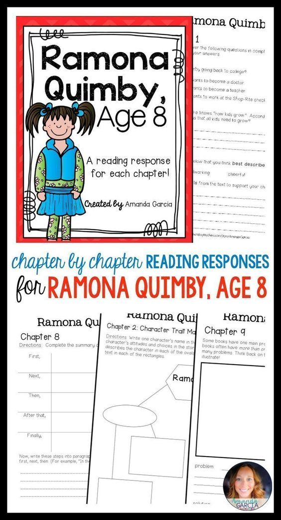 ... Summary Analysis And Response. Ramona Quimby, Age 8 By Beverly Cleary  Complete Unit Of Reading   How To Write
