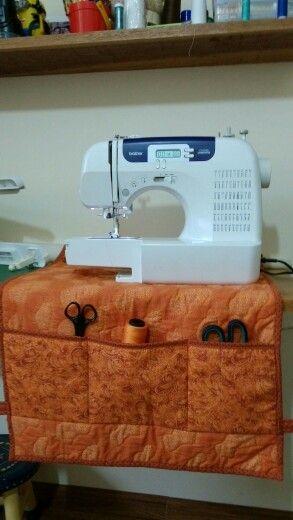 Capa para maquina de costura com dupla utilidade