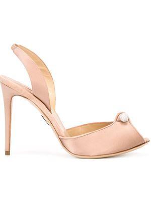 Sandália de couro e seda