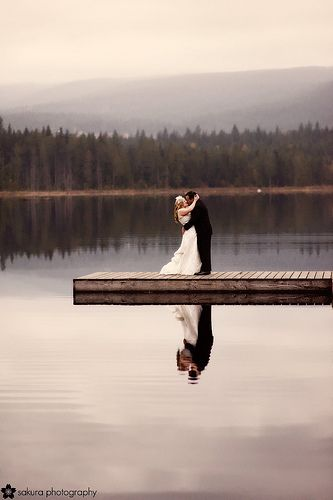 Prefect if we end up getting married at the cabin. Someone better make me an extra long dock just for this.