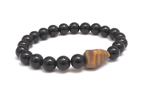 Volcanic Rock bracelet diffuser jewelry Lava Rock Tiger/'s Eye diffuser bracelet courage bracelet tiger/'s eye stone