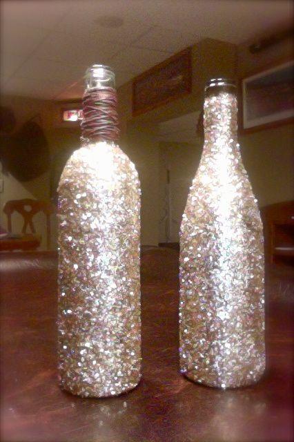 Pinterest the world s catalog of ideas for How to glitter wine bottles