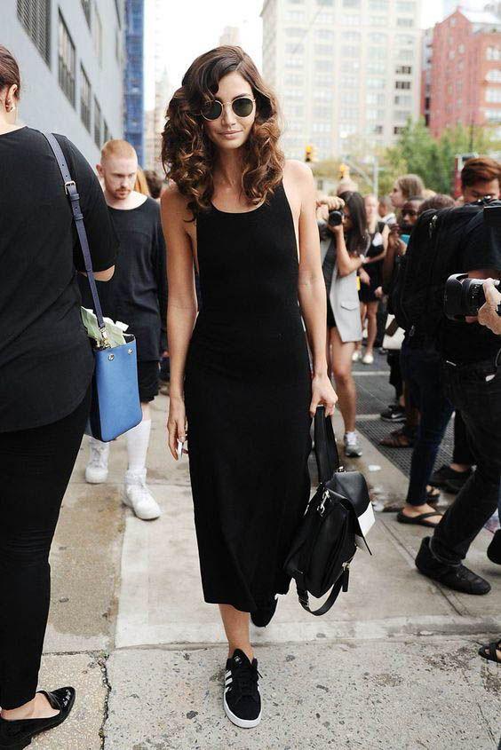 Image result for Black Midi Dress pinterest