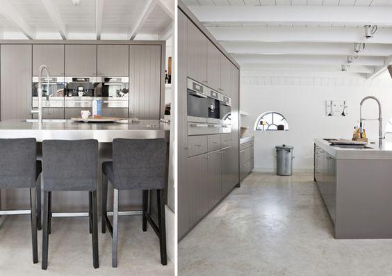 Grijze Keuken Modern : Meer modern grijs keukens moderne huizen thuis ...