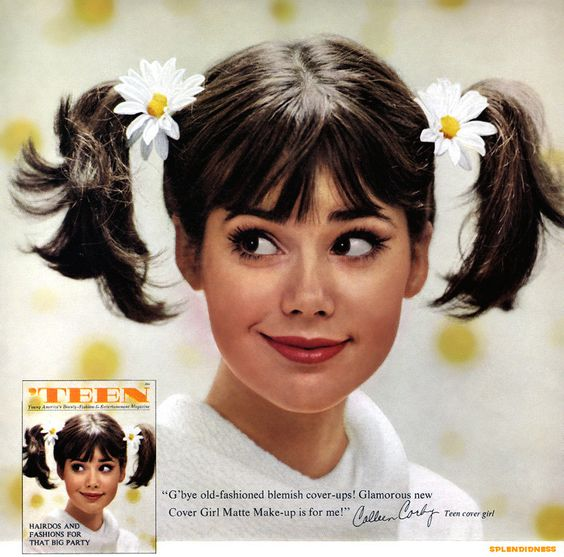 Colleen Corby, 1964 magazine ad for Cover Girl® cosmetics.