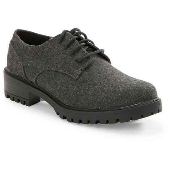 Design Lab Lord & Taylor Chreneline Derby Shoes ($34) ❤ liked on Polyvore featuring shoes, oxfords, grey, grey oxfords, gray oxfords, gray shoes, laced up shoes and lace up oxfords