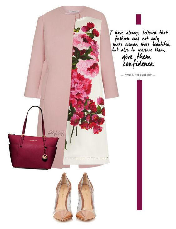 """""""Floral Dress"""" by boho-at-heart ❤ liked on Polyvore featuring Dolce&Gabbana, Gianvito Rossi and MICHAEL Michael Kors"""