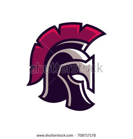 Gladiator Helmet Logo Or Icon Greek Spartan Warrior Armor In Cartoon Comic Book Style Vector Illustration Gladiator Helmet Helmet Logo Dragon Tattoo Stencil