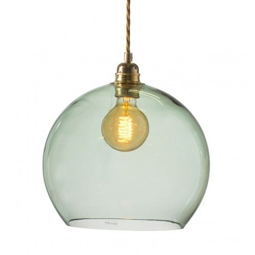 Taklampa i glas Forest Green, Ebb