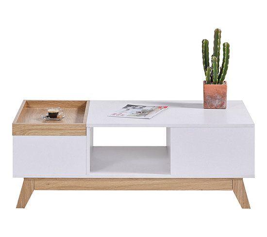Table Basse Scandinave Cleo Blanc Imitation Chene Table Basse But En 2020 Table Basse Scandinave Table Basse Mobilier De Cuisine