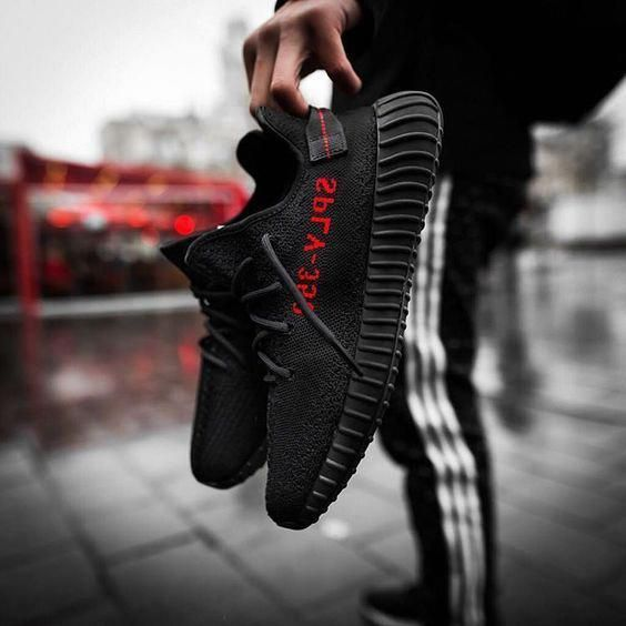 Adidas Yeezy Boost 350 V2 Core Black Red / Bred online #sneakers #fashion #shoes #sport #fitness #running #streetfashion #men #woman #style #outfit #adidas #yeezy #yeezyboost #yeezy350v2 #CoreBlackRedBred