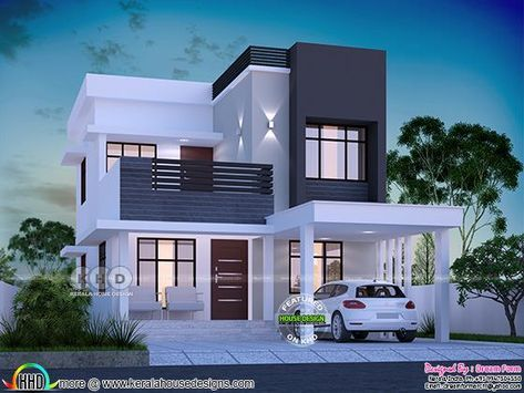 11 square feet 11 bedroom modern house plan  House outside