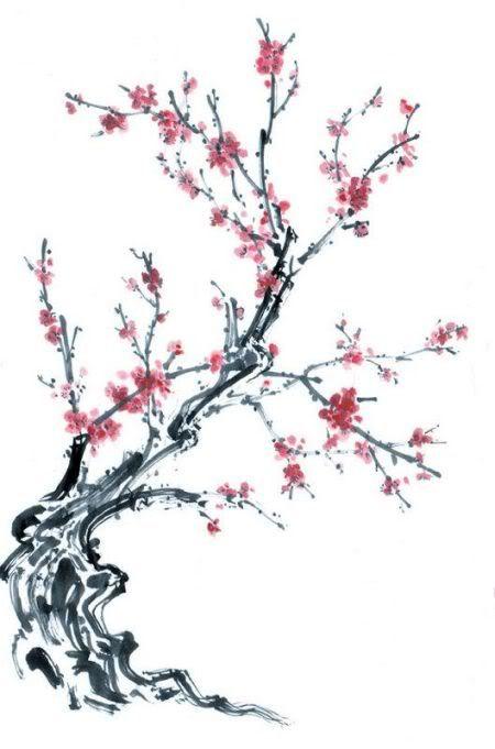 sakura tree drawing   imgkid     the image kid has it