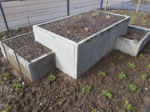Hochbeet Selber Bauen Aus Betonplatten Youtube Hochbeet Garten Hochbeet Hochbeet Selber Bauen