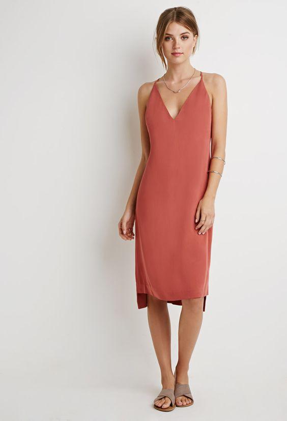 V-Neck Crisscross Cami Dress | Forever 21 - 2000183748