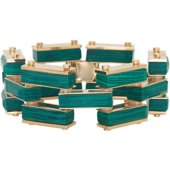 Lele Sadoughi Garden Fence Bracelet (¥36,000) ❤ liked on Polyvore featuring jewelry, bracelets, black jewelry, kohl jewelry, yellow gold jewelry, bracelet bangle and black gold bracelet