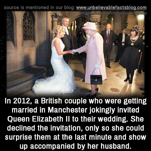 In 2012 A British Couple Who Were Getting Married In Manchester Jokingly Invited Queen True Interesting Facts Unbelievable Facts Interesting Facts About World