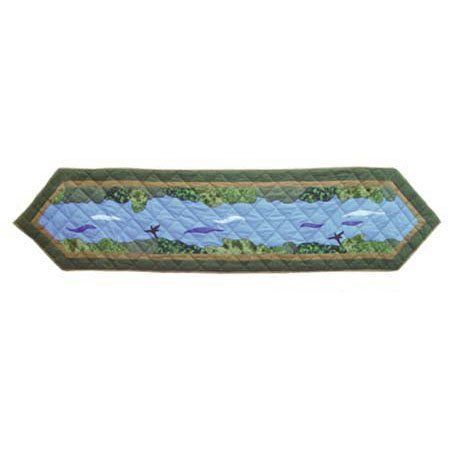 Go Fishing, Runner 72 X 16 In. by PMG. $32.25. Table top Décor. Top branded ensembles and bedding items. For a table with 6 place settings. Top quality Cotton product,hand layered and hand quilted. 16 x 72 Inches. Go Fishing, Runner 72 X 16 In.. Save 25%!