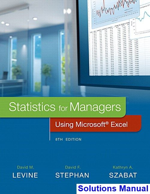 Statistics For Managers Using Microsoft Excel 8th Edition Levine Solutions Manual Digital Deal Promotion 2021 Microsoft Excel Excel Business Management