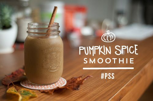 Post Run Pumpkin Pie Spice Protein Smoothie via lululemon #healthy # ...