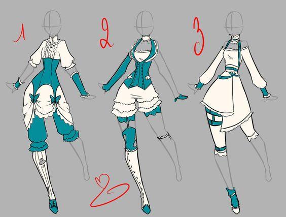 Steampunk dress design by rika-dono.deviantart.com on @deviantART