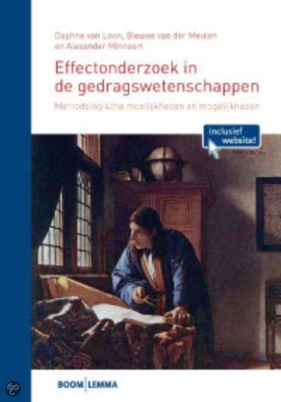 Effectonderzoek in de gedragswetenschappen  EBOOK
