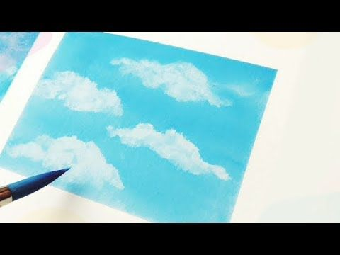 Easy Watercolor Clouds For Beginners Using Towel Paper