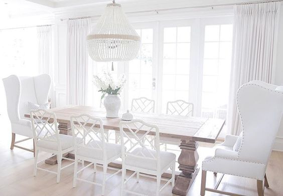 Dining room restoration hardware ballard designs dayna for Ballard designs dining room