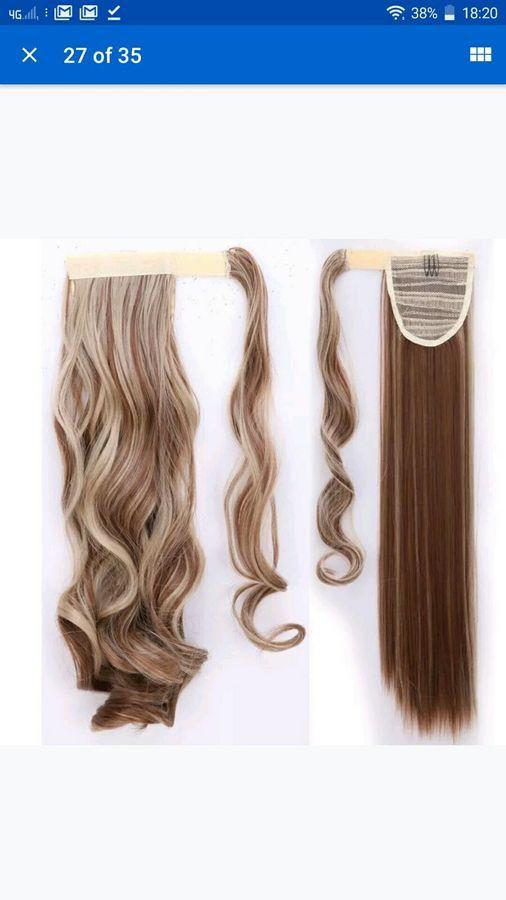 Wrap Around Ponytail Hair Extension Light Brown Ash Blonde F12 24