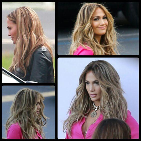 Jennifer Lopez balayage highlights