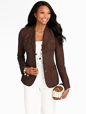 Talbots - Refined Linen Four-Pocket Jacket | Jackets |