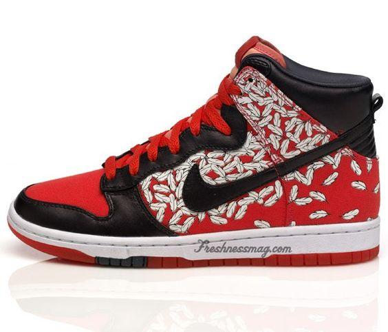 NIKE DUNK X PAULE MARROT (WMNS) - Sneaker Freaker. Nike Womens Skinny Dunk  High Feathers ...