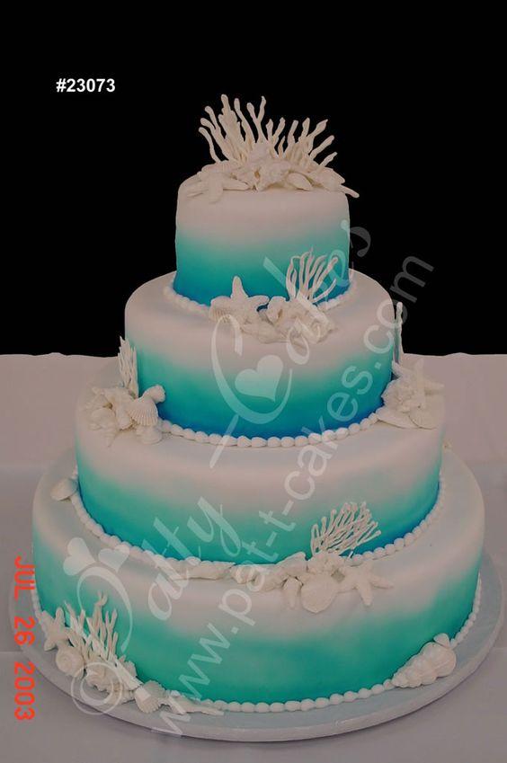 Ocean motive weddingcakepicture TropicalWedding