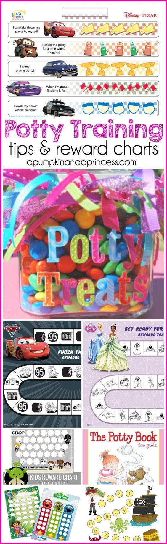 Potty Training Tips + Reward Charts - A Pumpkin And A Princess