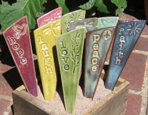 inspirational garden stakes