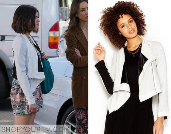 Pretty Little Liars: Season 6 Episode 4 Aria's White/Black Jacket