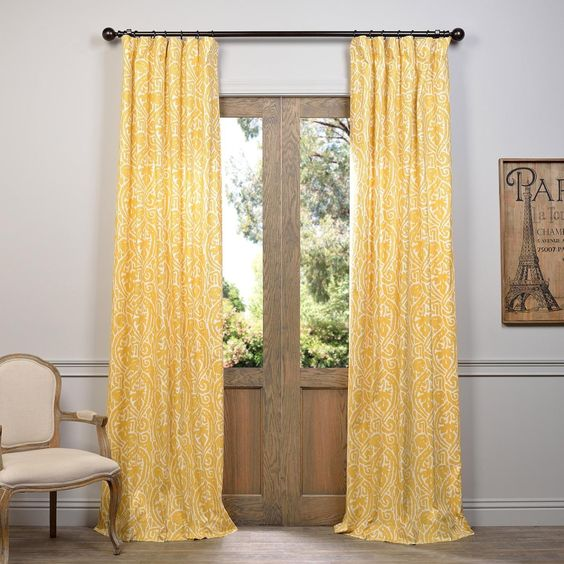 Living Room Curtains amazon living room curtains : Amazon.com - Half Price Drapes PRCT-D12B-84 Zambia Corn Printed ...