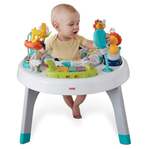 Fisher Price 2 In 1 Sit To Stand Activity Center Safari Fisher Price Infant Activities Sit To Stand