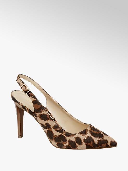 Damen Sling Pumps Von Catwalk In Leopard Deichmann Com Absatz Neue Schuhe Pumps
