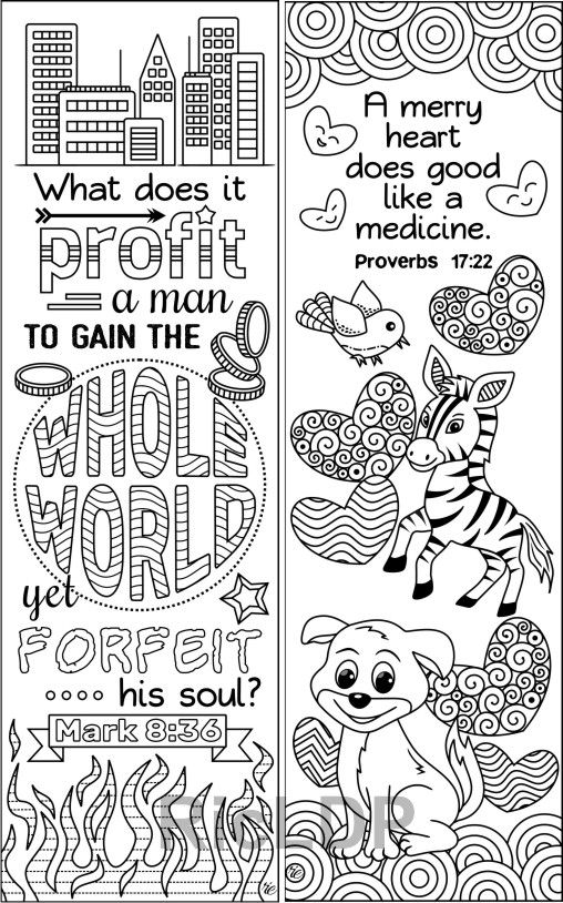 Set Of 8 Bible Coloring Bookmarks Cute Christian Markers Etsy Coloring Bookmarks Bible Coloring Pages Bible Verse Coloring Page