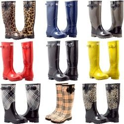 Chic and classy, durable rubber boots to wear on a rainy day, or keep your feet tidy in your garden's muck and soil!