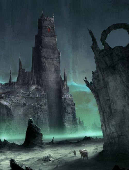 Ruins By Chris Cold Fantasy Landscape Fantasy Art Fantasy Castle