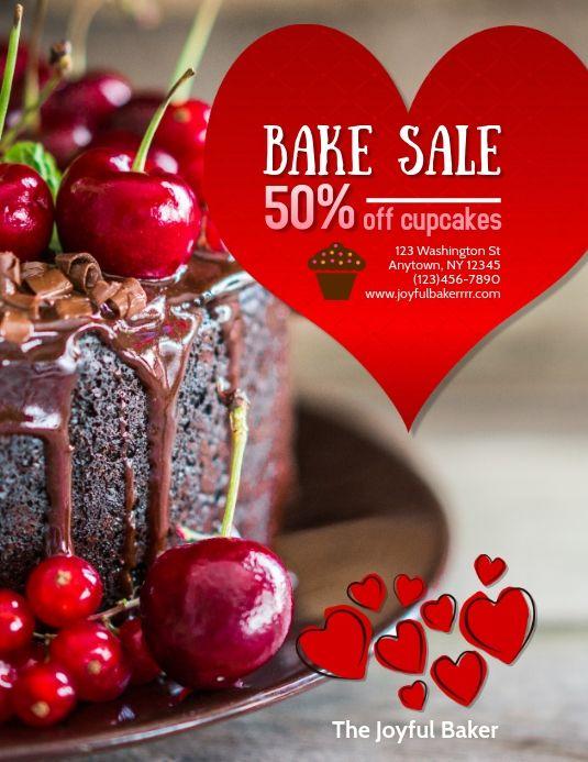 Valentines Cake Shop Bake Sale Flyer Bake Sale Flyer Bake Sale Sale Flyer