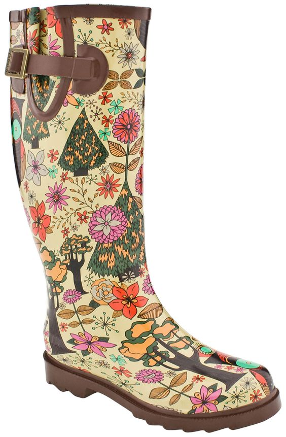 Womens Chooka Gypsy Owl Rain Boots (Multi) LS 10%: