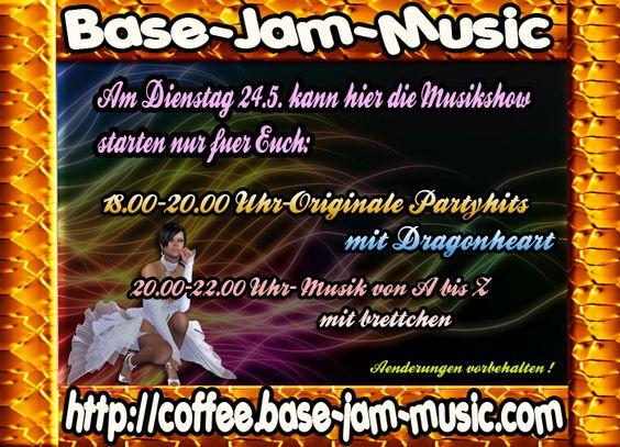 Gute Musik,dazu klasse Kaffee, Tanz und dann ist unsere Welt okay,seid mit dabei und habt Spass zu guter Musik auf http://coffee.base-jam-music.com am heutigen Dienstag