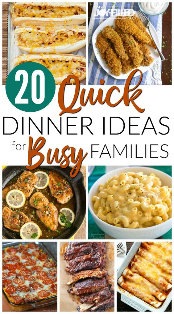 Quick Dinner Ideas for Busy Families