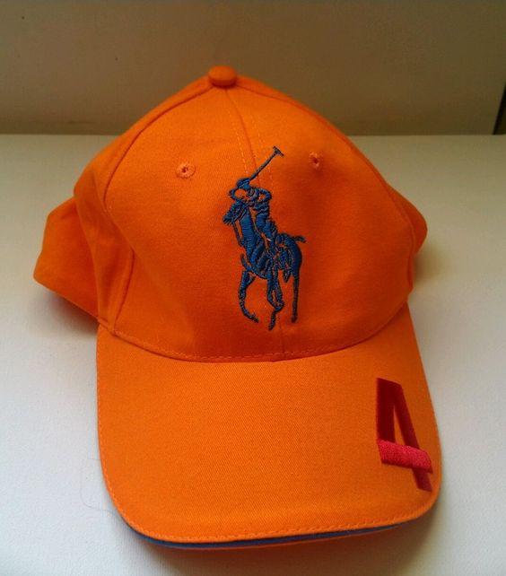 Ralph Lauren Men's Orange Big Pony Darkgreen Polo