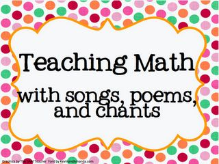 Resources for teaching math with songs: Grade Math, Classroom Math, Teaching Math, Education Math, Math Songs, Classroom Ideas, Bridges Training